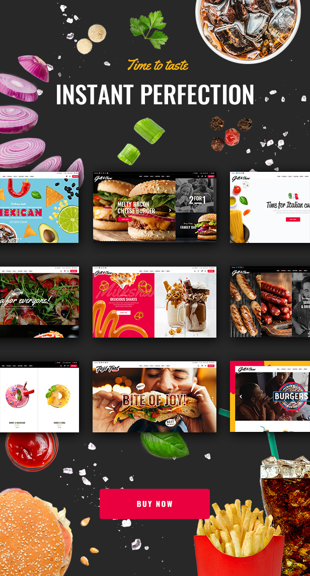 WordPress theme Grill and Chow - A Fresh and Tasty Fast Food Theme (Restaurants & Cafes)